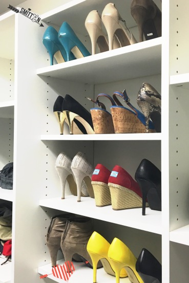 My shoe shelf in my big closet!